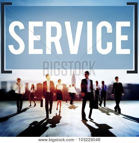 Service Support Delivery Assistance Care Concept