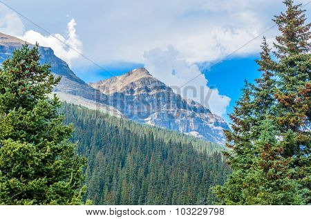 Rocky Mountains. Coastal Mountains. Mount Thompson in Alberta, Banff. Canada.