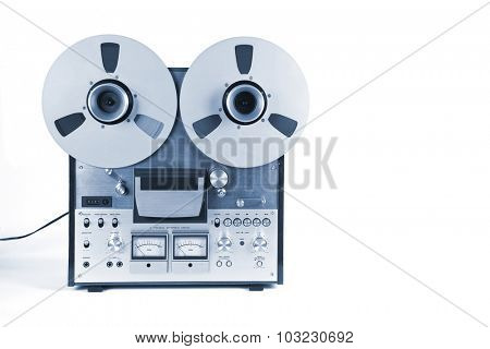 Analog Stereo Open Reel Tape Deck Recorder Player with Metal Reels Reels