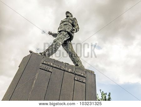 Memorial Of Charles De Gaulle   In Paris