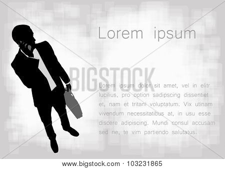 businessman on the abstract background with space for text