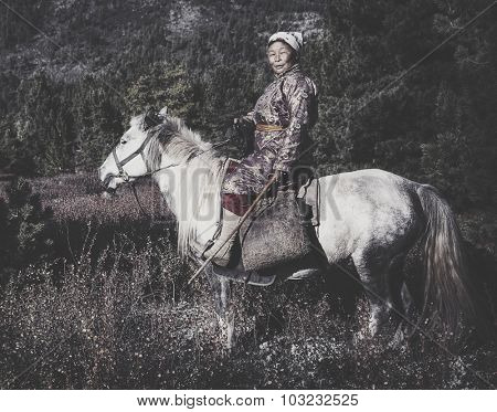 Woman Riding Horse Equestrian Solitude Tranquil Concept