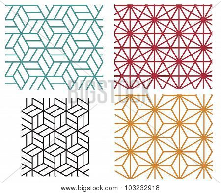 Geometric Line Style Vector Patterns