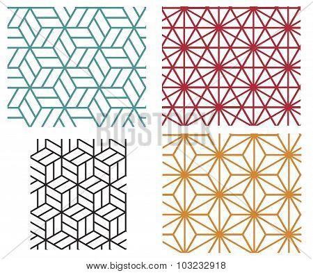 Geometric Line Style Vector Patterns