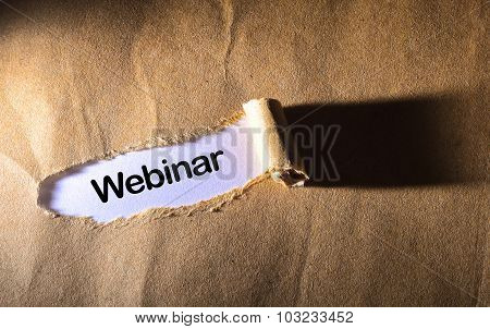 Torn Paper With Word Webinar