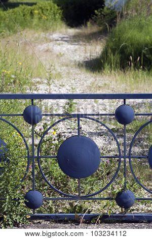 Blue Metal Fence