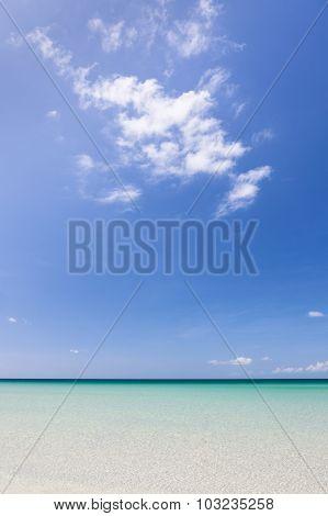 Paradise sand beach on sunny day