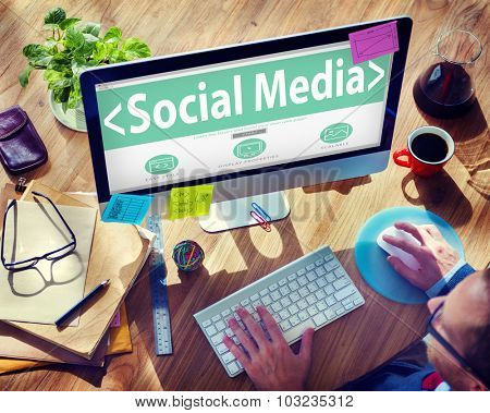 Social Media Networking Community Internet Communication Concept