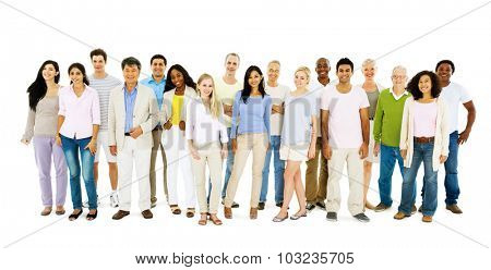 Diverse People Happiness Friendship Togetherness Concept