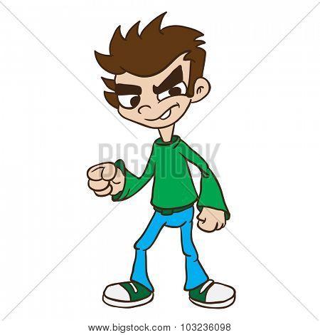 boy standing cartoon illustration