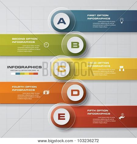 5 Steps Business infographic template.
