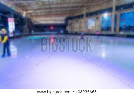 Abstract blur playing ice skating