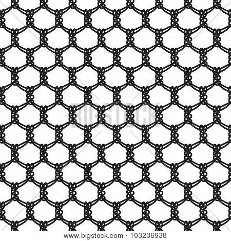 Seamless abstract lace pattern basic ornament needlework