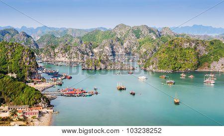 View Of Halong Bay, North Vietnam