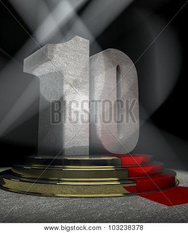 Anniversary Scene with TEN on pedestal