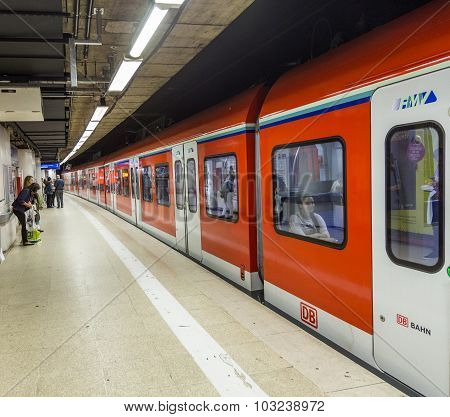 Subway Train Ready To Leave The Station