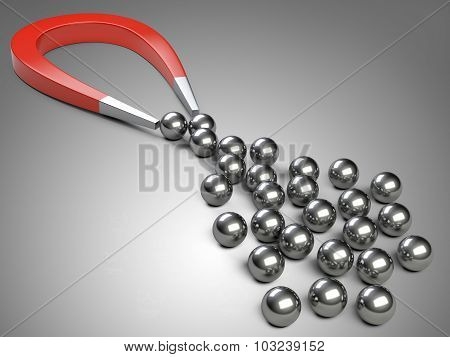 Big Magnet Attracting Chrome Bearing Ball.