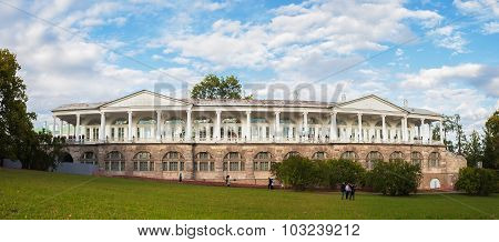 Panorama Of Cameron Gallery In Catherine's Park In Tsarskoe Selo, Near St. Petersburg