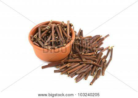 Dry Marsh Cinquefoil, Potentilla Palustris. Dry Medical Herbs.