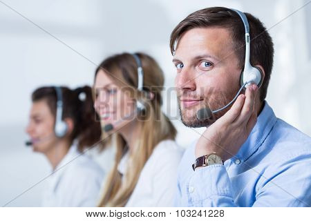 Support Phone Operators In Headset