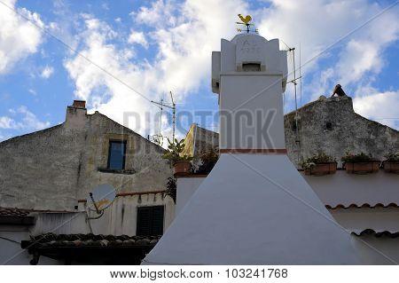 characteristic foreshortening village Rodi Gargano