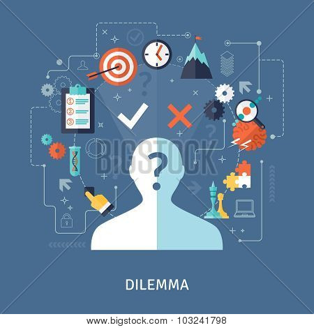 Dilemma Concept Illustration