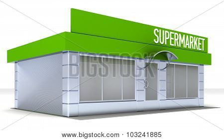 Illustration of shop or minimarket kiosk exterior