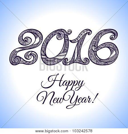 New Year 2016 Typography