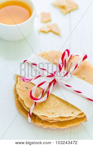 Cracker On Wood / Cracker / Cracker On White Wooden Background