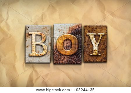 Boy Concept Rusted Metal Type