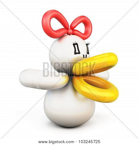 Duck Twisted Balloons