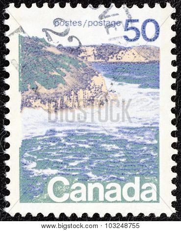 CANADA - CIRCA 1972: A stamp printed in Canada shows seashore, eastern Canada