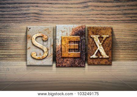 Sex Concept Letterpress Theme