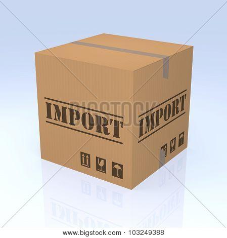 Import Cardboard Box