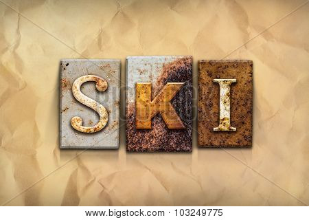 Ski Concept Rusted Metal Type