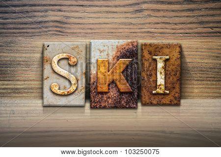 Ski Concept Letterpress Theme
