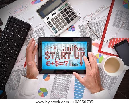 Touch Pad With Start Up