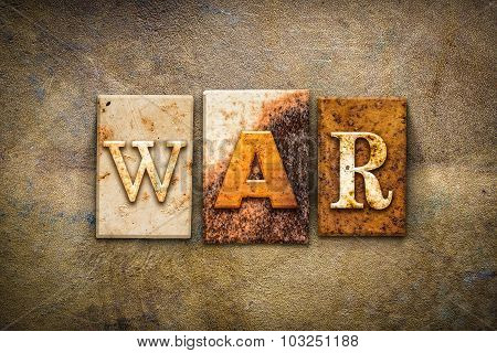 War Concept Letterpress Leather Theme