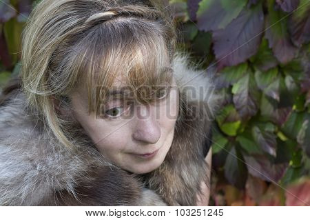 Woman With Scattered Look