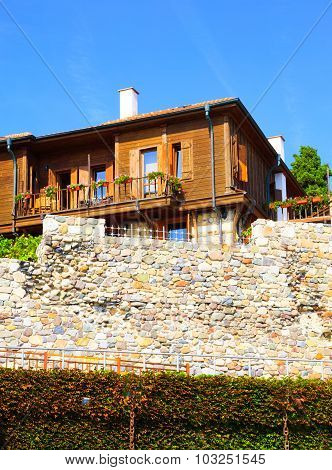 Wall Of The Old Town Of Sozopol, Bulgaria