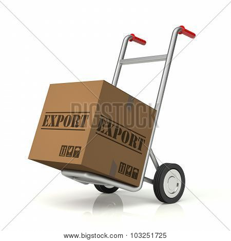 Hand Truck And Export Cardboard Box