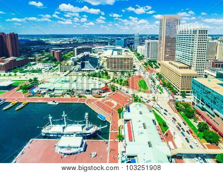 Aerial View Of Baltimore, Maryland