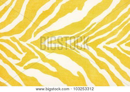 Yellow And White Zebra Pattern.