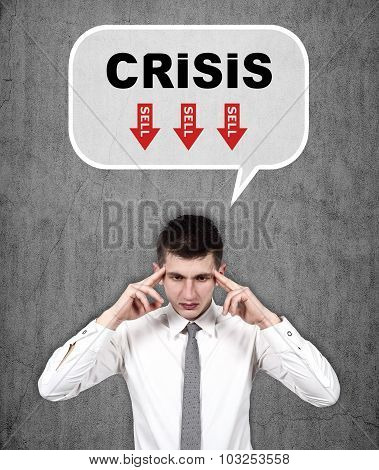 Man Thinking About Crisis