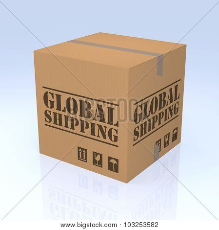 Global Shipping Cardboard Box