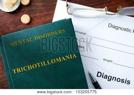 Trichotillomania concept.