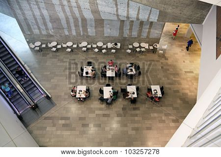 The Interior Of The Cafe At The Museum Of Art, Tel Aviv