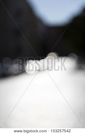 Blurred Shot Of A Street In Summer With Bokeh