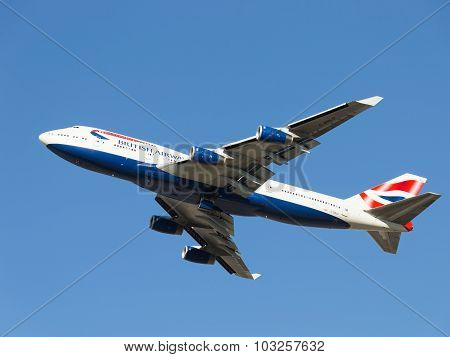 Passenger Plane Boeing 747-436 British Airways