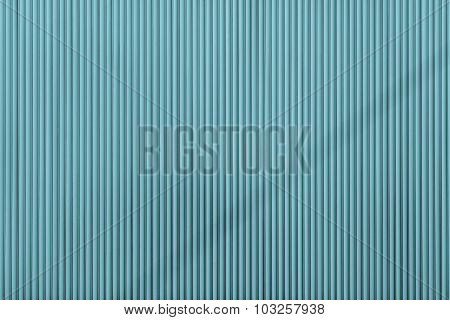 Turquoise Color Corrugated Texture Of A Surface Iron Leaf